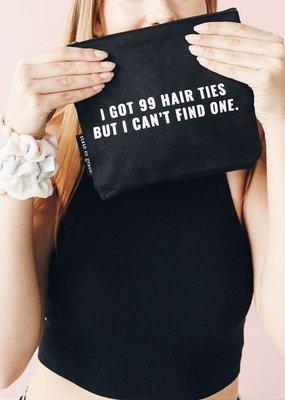 99 hair ties - small zip bag