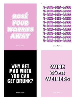 Break Up. Wine Labels