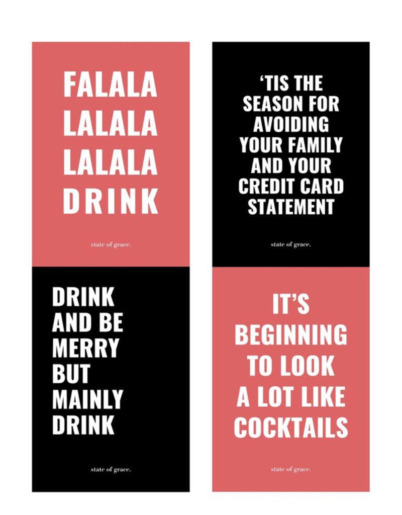 Festive AF. Wine Labels