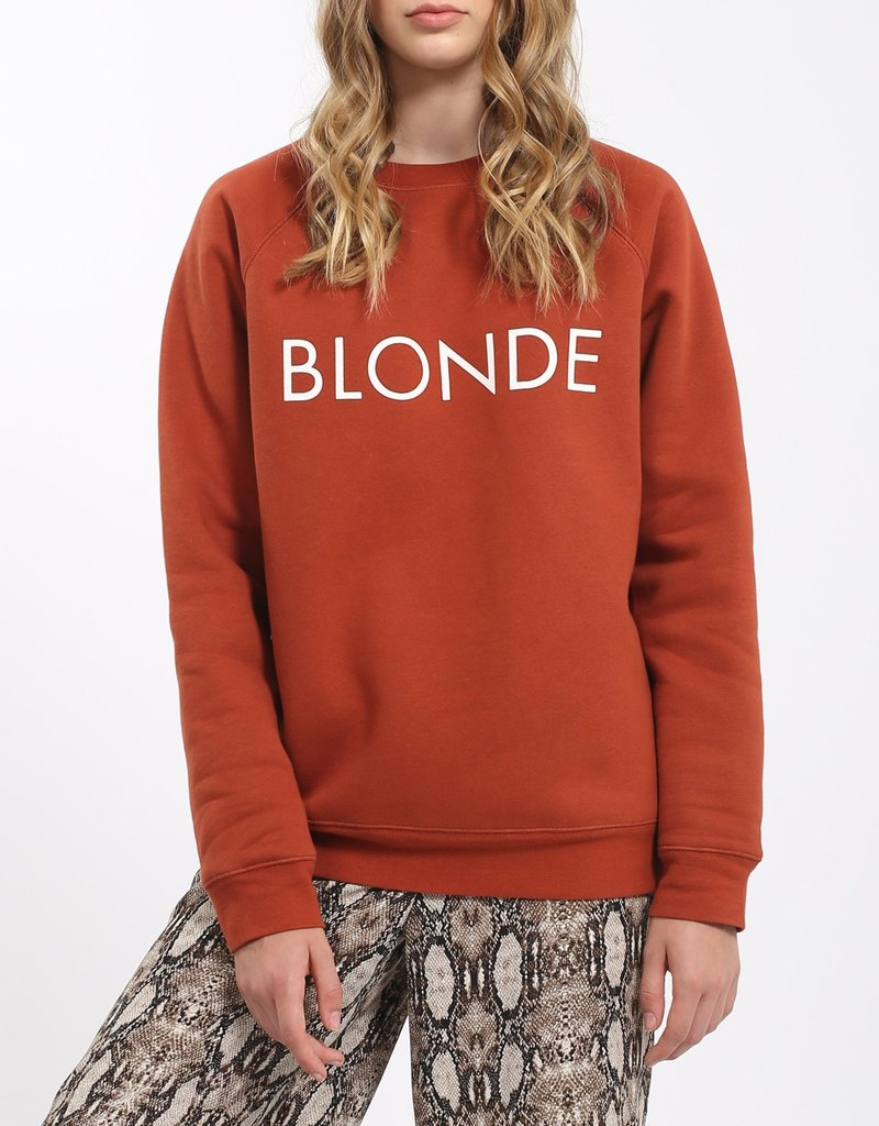 Brunette the Label Blonde Crew - Rust