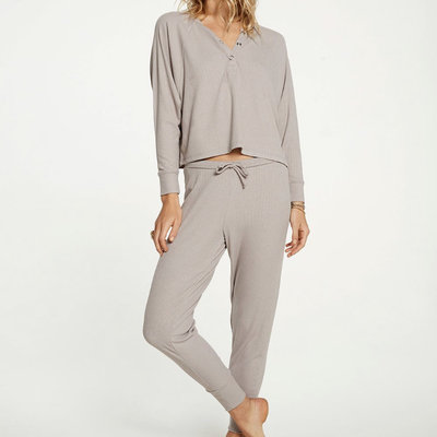 Chaser Cozy Rib Slouch Pant
