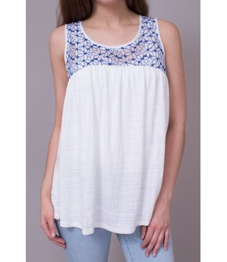 Mystree Daisy Yoke Top