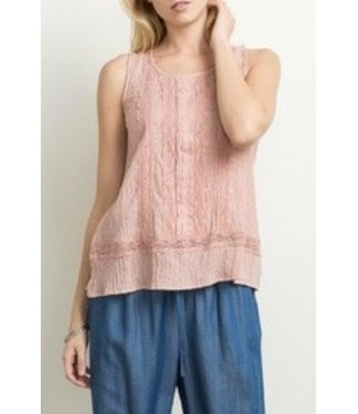 Mystree Lace Trim Tank Top
