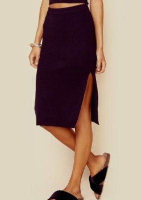 Mink Pink Knitted Pencil Skirt