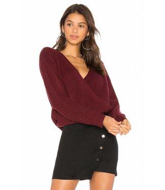 Mink Pink Carmen wrap sweater