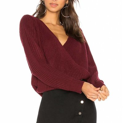 Mink Pink Carmen wrap sweater