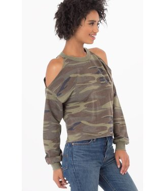 ZSupply Camo cropped cold-shoulder