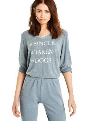 Wildfox Dogs Baggy Beach V-neck