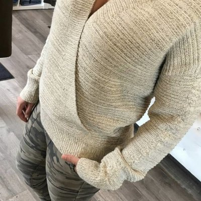 Mystree Criss Cross Sweater