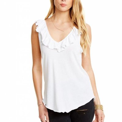 Chaser Jersey double ruffle tank