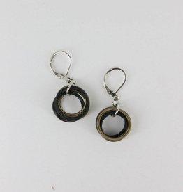 Sea Lily Sea Lily 268 Bronze & Black Earrings