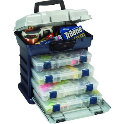 Plano Plano 136400 4-By Drawer System 3650Sz Blue/Silver