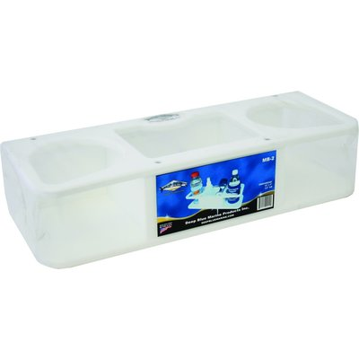 Deep Blue Deep Blue MB-2 Lrg Dbl Drink Holder Polymer w/Med Box Suction Cup