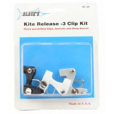 Black's Marine Black Marine RC60 Kite Release 3 Clip Kit