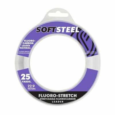 Soft  Steel Soft Steel Stretchable Fluorocarbon Leader 25yds 25lb