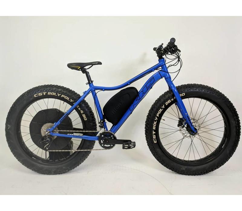 KHS 4 Season 500 Fatbike BionX D500 Blue Medium