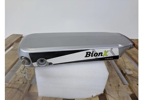 BionX Used BionX RX Battery Silver 48V 8.8AH 423WH 64 Charge Cycles Serial: 4847-A12298002