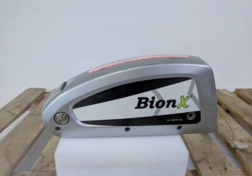 BionX Used BionX DX Battery Silver 48V 8.8AH 423WH 51 Charge Cycles Serial Number: 4000-D13077128