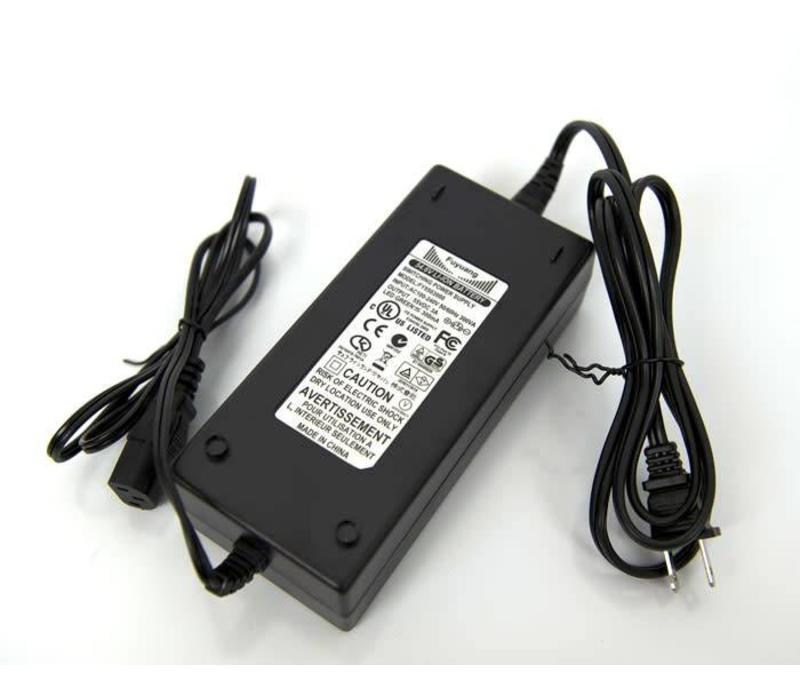 Charger Lithium 48V 2.5A LiFe P04 Black (Std. 3 Prong) 58V output
