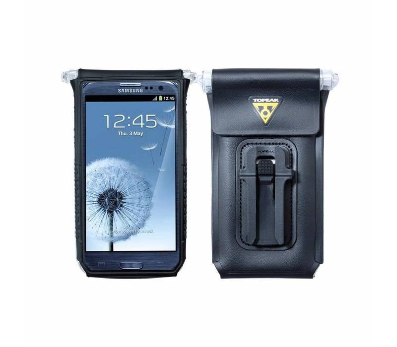 "Topeak IPhone 4/4S, fits up to 5"" phone, DRYBAG 100% Waterproof, Black"
