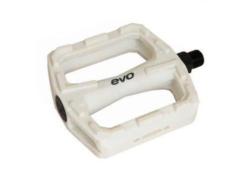 EVO EVO, E-Sport MX PC, Platform pedals, Steel axle, White, 380g