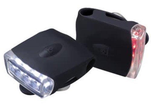 Topeak Topeak Highlite Combo USB Light Set - Black/Black