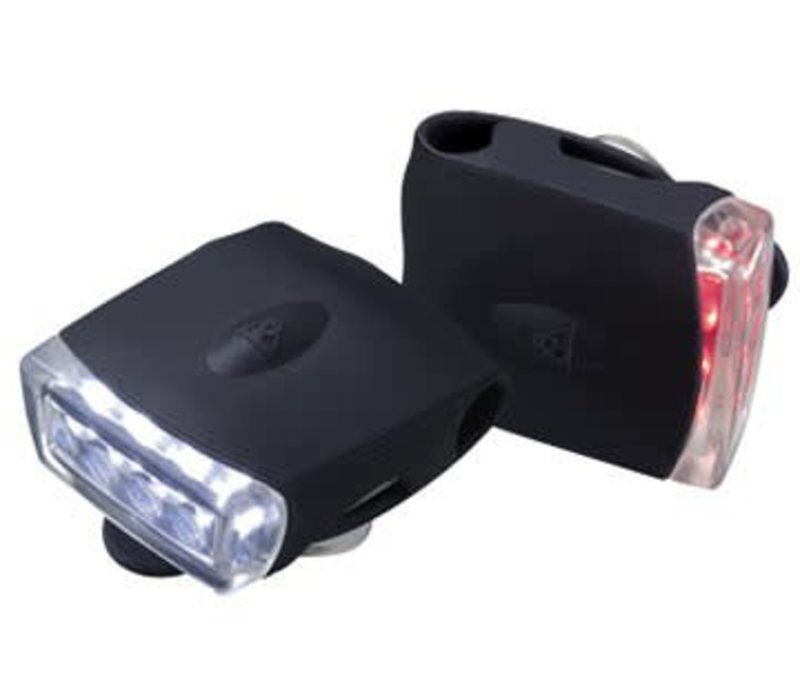 Topeak Highlite Combo USB Light Set - Black/Black