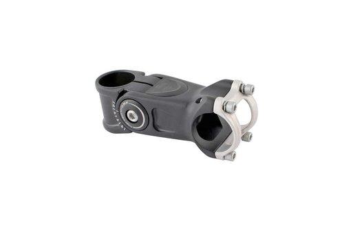 EVO EVO, Compact, Adjustable threadless stem, ST: 28.6mm, -20 to 50-deg, C: 31.8mm, Black, 95mm