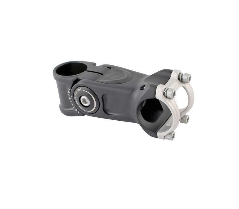EVO, Compact, Adjustable threadless stem, ST: 28.6mm, -20 to 50-deg, C: 31.8mm, Black, 95mm