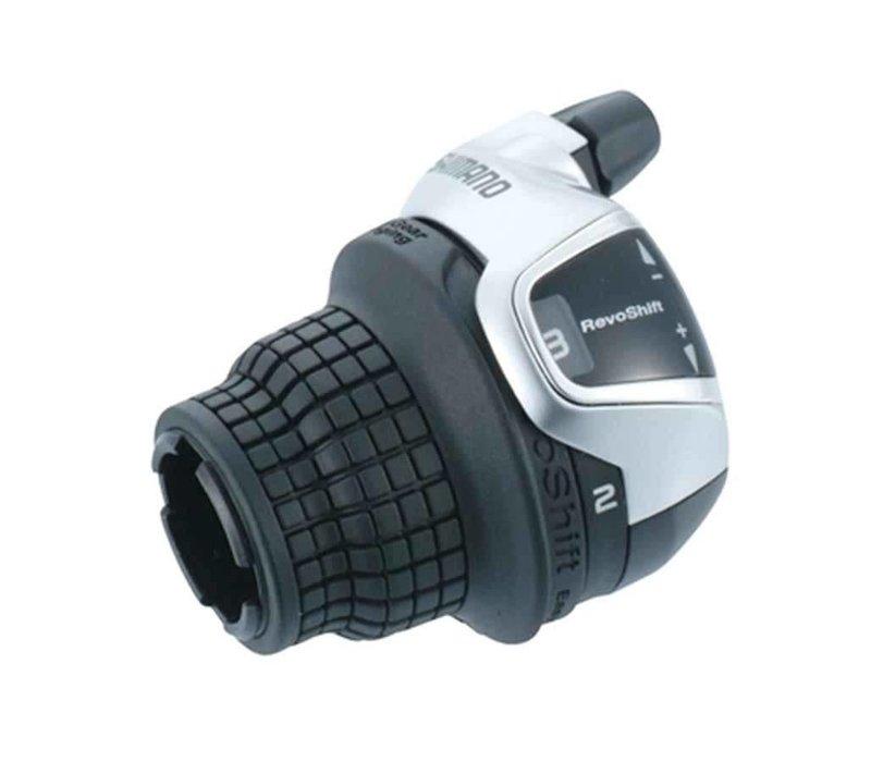 Shimano, Tourney Revoshift SL-RS47, Shift levers, 8 sp., Black, Pair