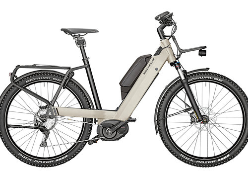 Riese & Muller Riese & Muller 2020 Nevo GT Terra Grey 47 w/ Smartphone Hub, 1000WH,GX Option, Front Carrier
