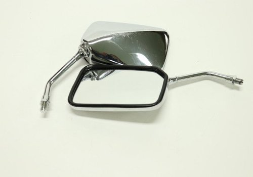 Amego Chrome Square Soko Motorcycle Mirror