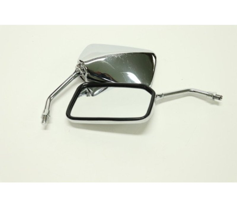 Chrome Square Soko Motorcycle Mirror