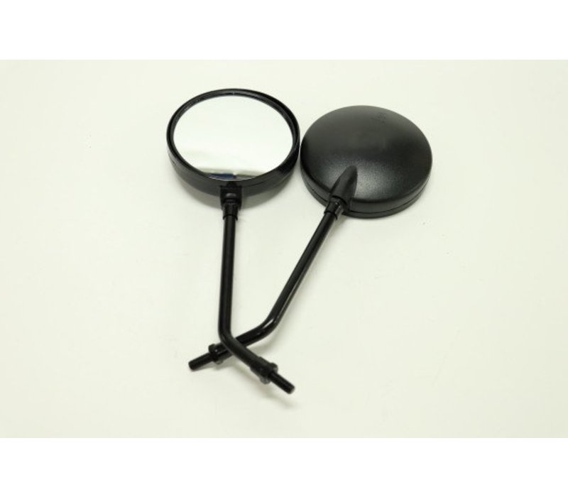 Scooter Mirror Pair - Round Black