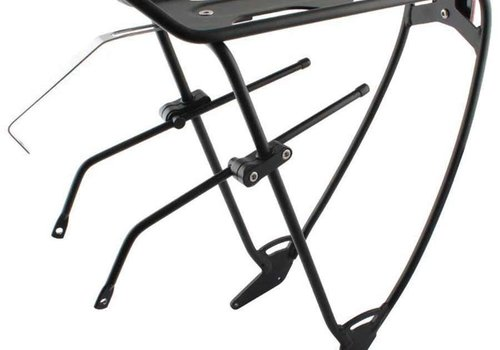 EVO EVO Robin Rear Rack with Top Plate And Adjustable Sliders Black