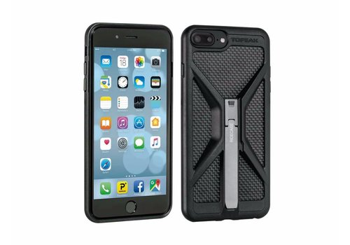 Topeak Topeak Ridecase W/ mount Fits iPhone 8+/7+/6s+/6+ ONLY, Black