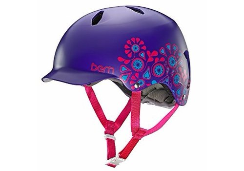 Bern Bern Bandita EPS M - L Satin Purple Foral