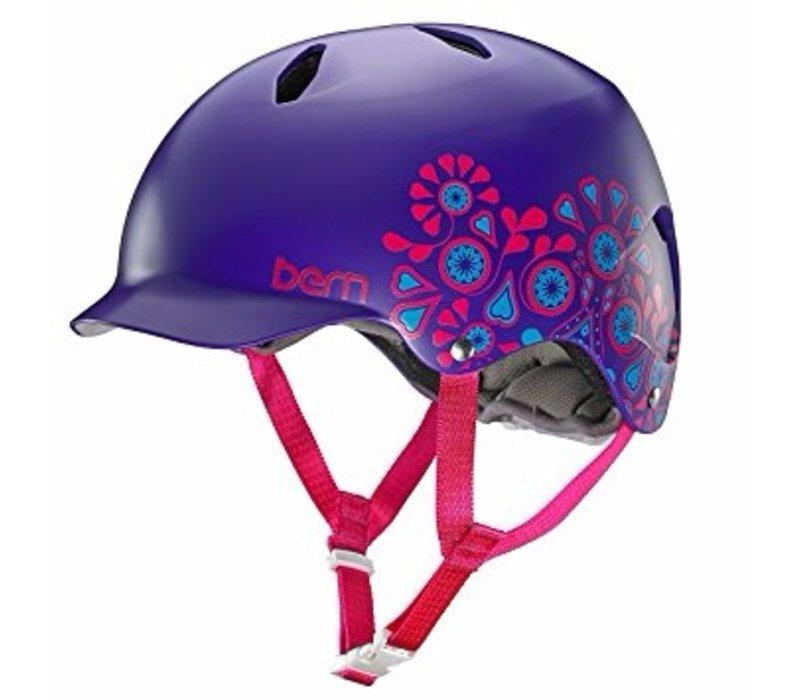 Bern Bandita EPS M - L Satin Purple Foral