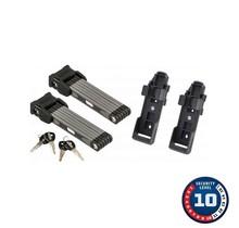 Abus, Bordo 6000 Twin Set, Folding Lock, Key, 90cm, 3', 5mm, Black, Set