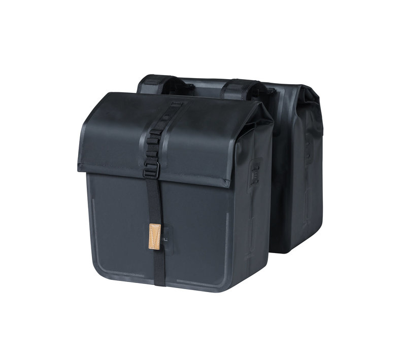 Basil, Urban Dry Double Bag, Double bag, Solid Black