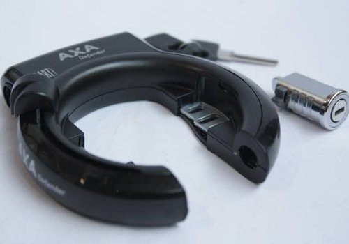 AXA Lock Defender AXA black with battery lock bosch for Gazelle