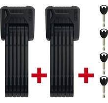 Abus, Bordo Granit XPlus 6500 TwinSet, Folding Lock, Key, 85cm, 3', 5.5mm, Black