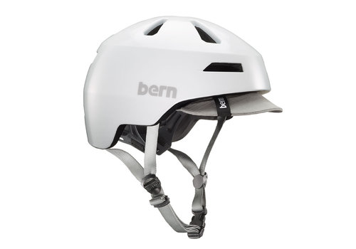 Bern Bern, Brentwood 2.0, Helmet, Satin White, S, 52 - 55cm