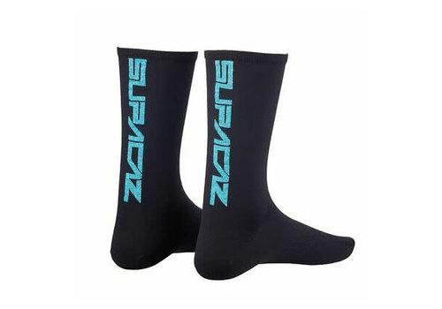 Supacaz, Straight Up, Socks, Blue Bling, SM, Pair