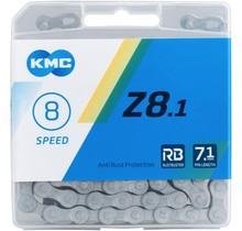 KMC, Z8.1 Rustbuster, Chain, Speed: 6/7/8, 7.1mm, Links: 116, Silver