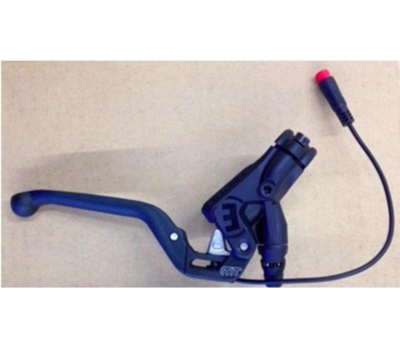 Stromer - Brake Lever Assembly - Magura MT5Ne ST2 S, Works as both left and right, Closer brake sensor & Higo plug