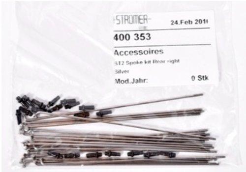 Stromer Stromer - Spoke Kit ST2 Rear Right Silver ST2 - 20 spokes & nipples - use with Alex FR30 rim