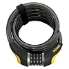 OnGuard, Doberman 8030, Coil cable with combination lock, 15mm x 185cm