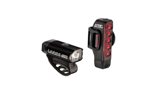 Lezyne Lezyne, Hecto Drive, 400 Lumens / Strip Drive, 150 Lumens, Light, Set, Black