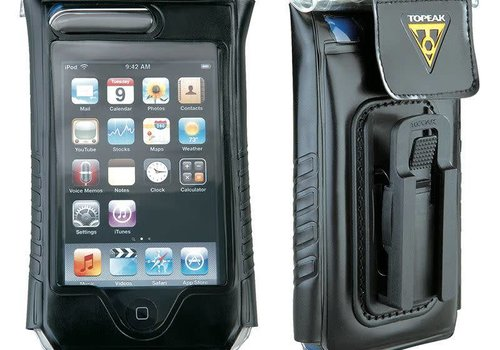 "Topeak Topeak IPhone 4/4S, fits up to 5"" phone, DRYBAG 100% Waterproof, Black"
